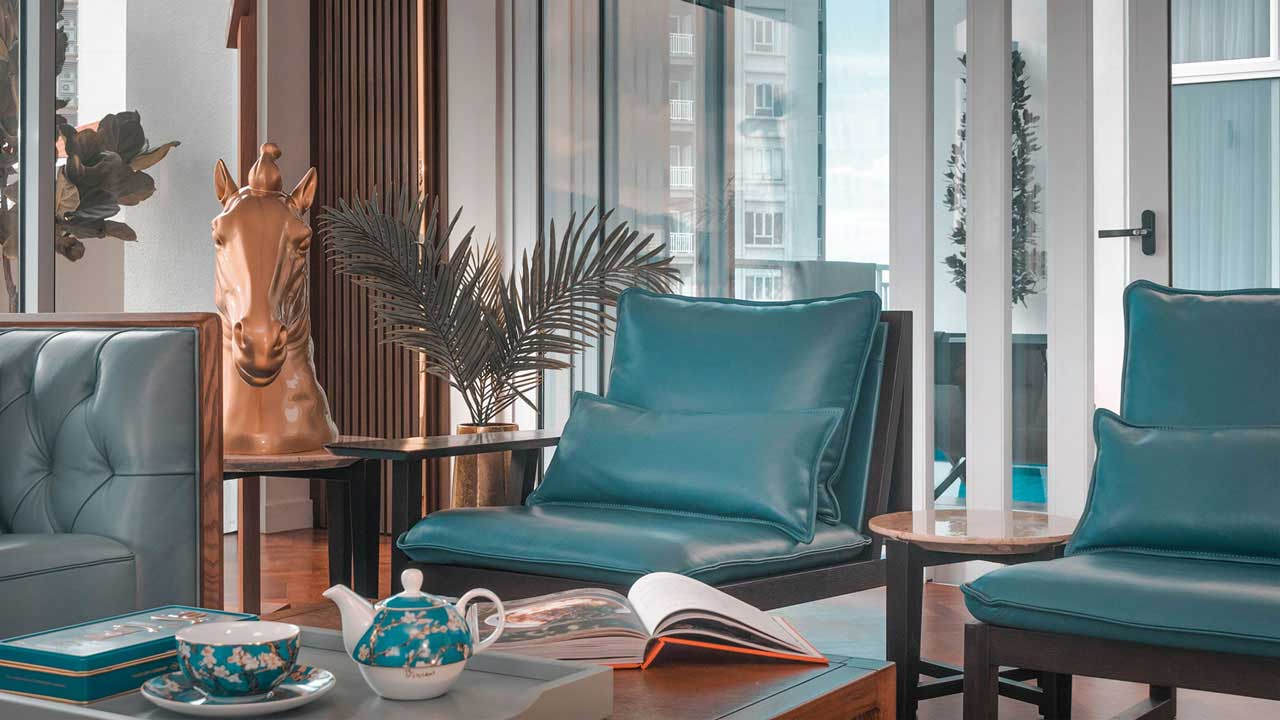 Andaman at Quayside penang condominium interior design coffee table by Eowon Design & Architecture