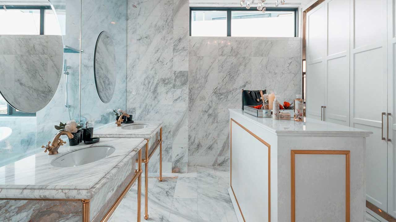 Metrio Development Beverly Heights penang interior design luxury toilet restroom bathroom by Eowon Design & Architecture