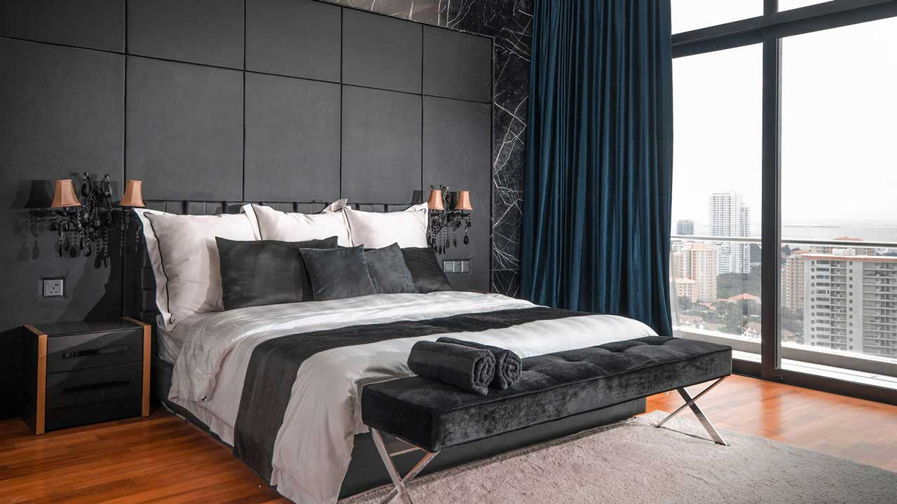 Metrio Development Beverly Heights penang interior design master bedroom by Eowon Design & Architecture