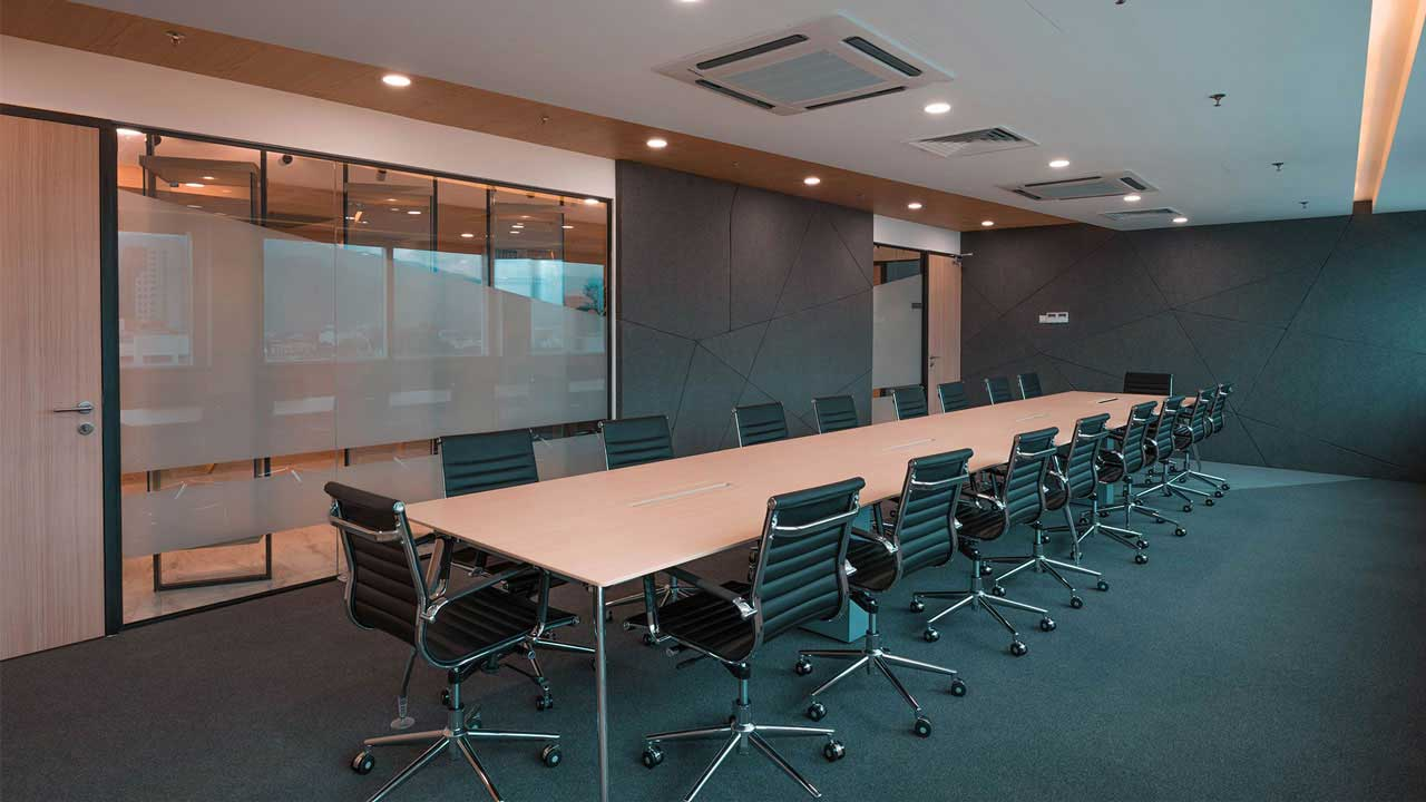 Monitor ERP System Penang headquarters interior design meeting room boardroom by Eowon Design & Architecture