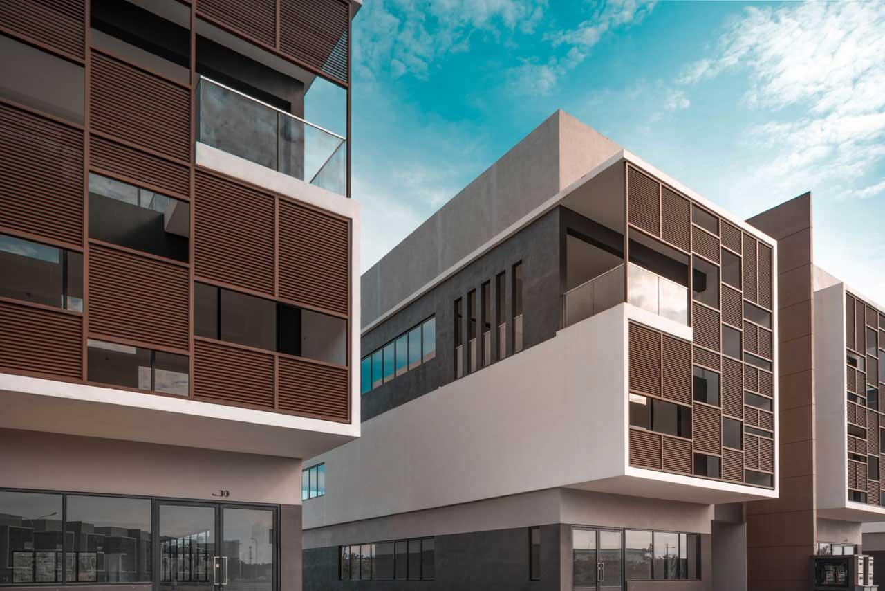 Santuari Commercial Centre Airmas Group Alma Bukit Mertajam architecture contemporary design office f&b Penang close up by Eowon Design & Architecture